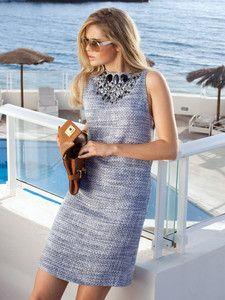 burda style: Damen - Kleider - Cocktailkleider - Shiftkleid - Schmucksteine und Perlen