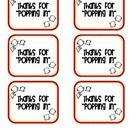 Attach these simple gift tags to a package of microwave popcorn for parents or students to pick up during Open House, Back to School Night, or even...
