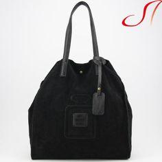 7d91e6a5aa354 Echt-Leder-Shopper-schwarz-Ledershopper-Ital-Ledertasche-My-