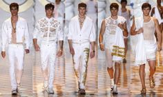 Versace   #Fashion #moda #men #hombre  http://cuchurutu.blogspot.com.es/2014/06/la-semana-de-la-moda-masculina-en-milan.html