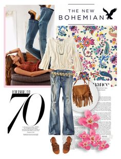 """""""The New Bohemian with American Eagle Outfitters: Contest Entry"""" by valentina-agnese ❤ liked on Polyvore"""