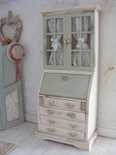 miniature shabby chic bureau-dolls house-REDUCED BY 50%