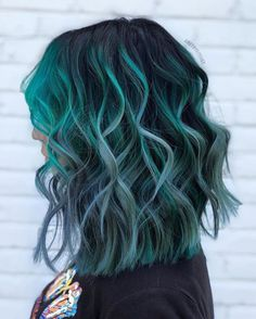 30 Lastest Unique Hair Color Ideas In 2019 - Page 4 of 31 - Fashion Lifestyle Bl. Green Hair Colors, Hair Dye Colors, Ombre Hair Color, Hair Color Balayage, Cool Hair Color, Unique Hair Color, Mint Green Hair, Ombre Green, Teal Hair