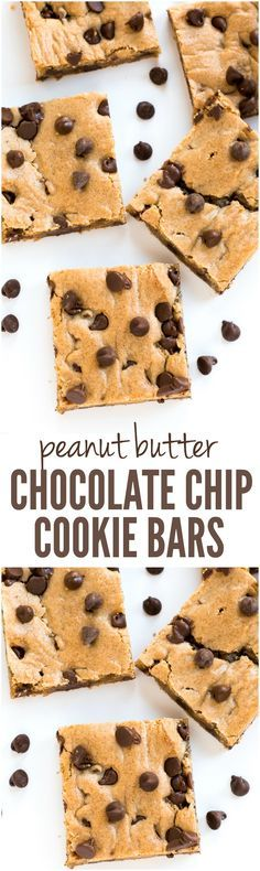 Peanut Butter Chocolate Chip Cookie Bars are loaded with peanut butter and gooey chocolate chips! therecipecritic.com