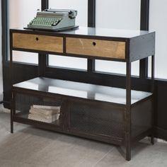 Console métal et bois à tiroirs | Pinterest | Consoles, Salons and ...
