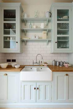 Farmhouse Sink and Subtle Color Kitchen