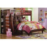 Discovery World Furniture Weston Twin Over Full L Shaped Storage Bunk Bed