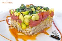 Tuna Tower · Recetas, comida, Food, alimentos, platos, platillos, gourmet, delicia, http://youtu.be/YlSsb5d0vP0