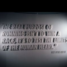Nike Town running quote