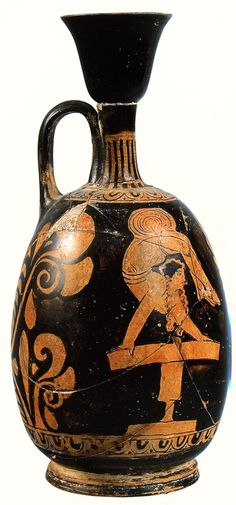 Acrobat. Apulian red figure lekythos. Hermitage B 4234. Ht 21.4cm. Muses and Masks. Theatre and Music in Antiquity (in Russian) (exhib. cat. St Petersburg 2005) no. 43.  Special thanks to Prof. J.R. Green