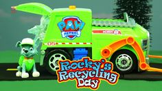 PAW PATROL Rocky Goes Recycling in Adventure Bay