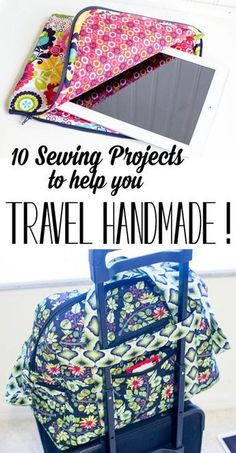 10 DIY Sewing Projects to help you Travel Handmade! — SewCanShe & Free Da& 10 DIY Sewing Projects to help you Travel Handmade! — SewCanShe & Free Daily Sewing Tutorials The post 10 DIY Sewing Projects to help you Travel Handmade! — SewCanShe Diy Sewing Projects, Sewing Projects For Beginners, Sewing Hacks, Sewing Tutorials, Sewing Crafts, Sewing Tips, Sewing Basics, Sewing Ideas, Crafts To Sew