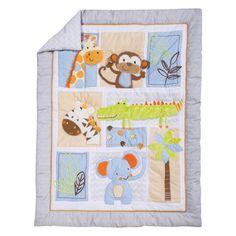 Crib Bedding Sets, Crib Mattress, Bedding Shop, Soothing Colors, Soft Colors, White Crib Bumper, Best Crib, Ticking Stripe, Blue Fabric