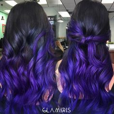 Exquisite Purple Color Melt by Iris Smith! Ombre Balayage Hair Painting Mermaid Hair fb.com/hotbeautymagazine
