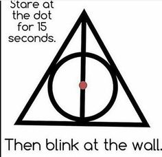 Harry Potter... One of the best optical illusion.