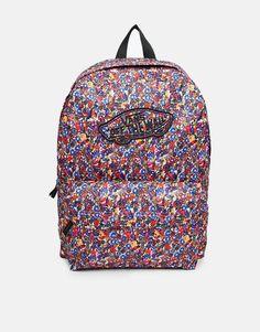 Vans Realm Backpack in Ditsy Floral Print