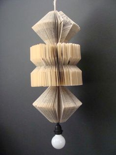 Alanna Lowe (PaperDame) upcycled book lamp