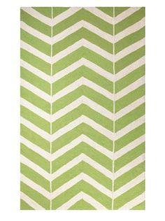 51% OFF Peking Handicraft ZigZag Rug (Green)