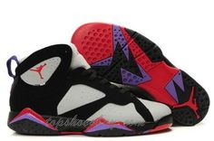 super popular 5fb7c 3ef88 Cheap Original Nike Air Jordan 7 Phat Retro Black And Grey-Purple-Varsity  Red Sneaker Sports Direct Store