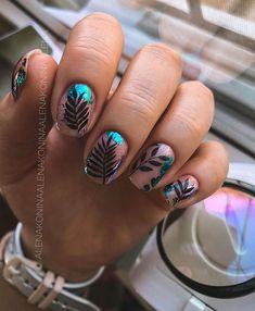 Edgy Nails, Stylish Nails, Trendy Nails, Cute Nails, Manicure Nail Designs, Nail Manicure, Square Nail Designs, Short Gel Nails, Magic Nails