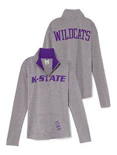 Kansas State Raw Half-zip Pullover