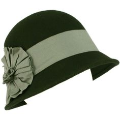 Amazon.com: Wool Winter Cloche Bucket Bell Ribbon Bow Hat Black Gray: Clothing
