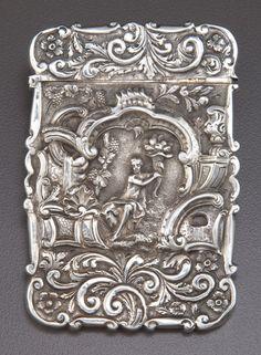 Nathanial Mills, George IV period sterling card case- Nathaniel Mills,  Birmingham, England, c1824-1825.