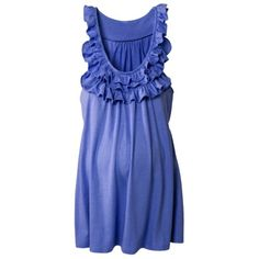 Merona® Maternity Sleeveless Ruffled Knit Top - Assorted Colors  Adorable tunic top that can be paired with some tights/leggings for a comfy yet stylish look.