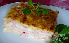 Lasagne se šunkou   NejRecept.cz Homemade Mayonnaise, Nom Nom, Main Dishes, Gouda, Food Porn, Easy Meals, Food And Drink, Appetizers, Cooking Recipes