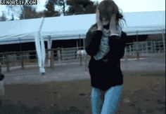 This girl who got into deep sheep with her dance moves. | 38 People Who Are Done With Today