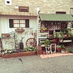 Garden Crafts, Garden Art, Garden Structures, Outdoor Structures, Farm Shop, Rustic Gardens, Enchanted Garden, Plant Design, Home Deco