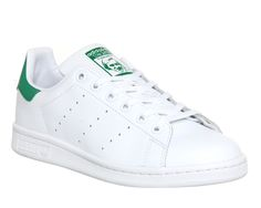 Buy Core White Green Adidas Stan Smith GS from OFFICE.co.uk.