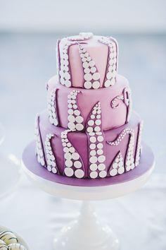 It's purple. It's ombre. It has tentacles. It's a wedding cake. I'm in love! via @offbeatbride