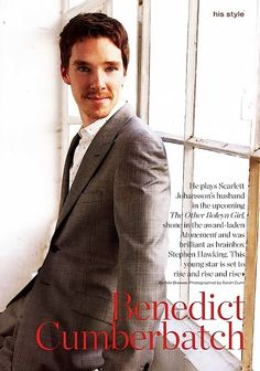 Charmer. Benedict Cumberbatch, In Style, 2008