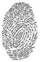 thumb print self-portrait....good ice breaker activity for Art I...