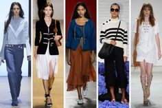 SS16 Trend at NYFW: Nautical Details // From left to right: Derek Lam, Altuzarra, Creatures of Comfort, Kate Spade New York and Rebecca Minkoff