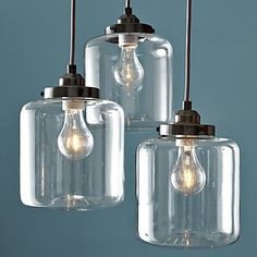 Buy Modern Transparent Glass Pendant Light  Iron with 3 Lights Dining Room Lighting Ideas Living Room Bedroom Lighting with Lowest Price and Top Service!