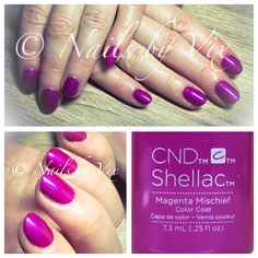 CND Shellac in Magenta Mischief from the Art Vandal Collection