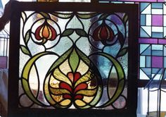 art nouveau style Artist G. Stained Glass Designs, Stained Glass Panels, Art Nouveau, Art Deco, Soldering, Suncatchers, Furniture Decor, Arts And Crafts, Artist