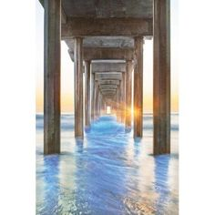 Portfolio Canvas Decor Under the Boardwalk II by Moises Levy Wrapped and Stretched Canvas Wall Art, Size: Large 33 inch-40 inch, Multicolor