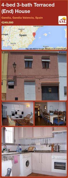 Terraced (End) House for Sale in Gandia, Gandia Valencia, Spain with 4 bedrooms, 3 bathrooms - A Spanish Life Double Bedroom, Master Bedroom, Internal Courtyard, Valencia Spain, Front Entrances, Family Bathroom, Googie, Internal Doors, Entrance Hall