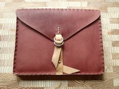 Cordovan Brown Leather iPad Cover Notepad by CSherwoodLeather