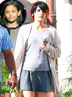 Credit: Gabriel Bouys-Pool/Getty Images; AKM-GSI    PreviousNext                Prev   Next   .  16 of 17            .  ..           Paris Jackson (Michael Jackson and Debbie Rowe).      Read more: http://www.usmagazine.com/celebrity-moms/pictures/hollywoods-kids-all-grown-up-201365/30290#ixzz2WhTZGL3H   Follow us: @Us Weekly on Twitter | usweekly on Facebook