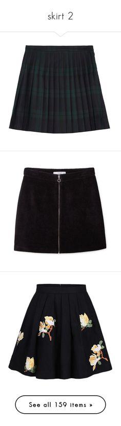 """skirt 2"" by sinyukovayulya ❤ liked on Polyvore featuring skirts, mini skirts, bottoms, alexander mcqueen, saias, navy pleated skirt, plaid pleated mini skirt, short plaid skirt, wool plaid mini skirt and navy blue pleated skirt"