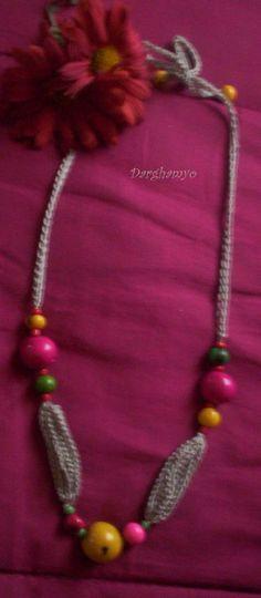 Collar #tejido en #crochet con enhebrado de semillas centroamericanas. #ganchillo ♥ #jewelry
