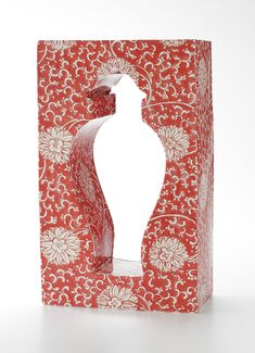 Molly Hatch Red and White Cube Vase - Todd Merrill
