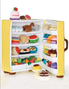 Ice Box Crochet - book of patterns for sale.. omg.. fridge full of food amigurumi... i want to make it all