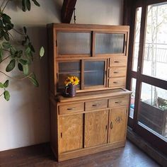 「食器棚」 #kubu #谷町#谷町6丁目#アンティーク#古道具#家具#古い家具#食器棚#水屋#antique #furniture #antiquefurniture#cabinet#antiquecabinet