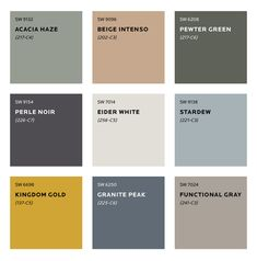 Colour Trends for 2020 What colours will we be seeing next year? See Sherwin Williams predicted colour trends for Plus sneak peek at the moodboard for S/Y Lazy Kingfisher. Interior Paint Colors, Paint Colors For Home, House Colors, Colour Combinations Interior, Gold Paint Colors, Modern Paint Colors, Exterior Colors, Exterior Paint, Moodboard Interior