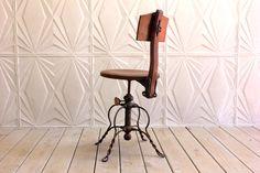 Vintage 1800's Iron Twist Legs Oak Wood Adjustable Height Swivel Desk Chair The Davis Chair Co Machinist Victorian Ornate Steampunk Decor by RetroSpecList on Etsy https://www.etsy.com/listing/399248037/vintage-1800s-iron-twist-legs-oak-wood